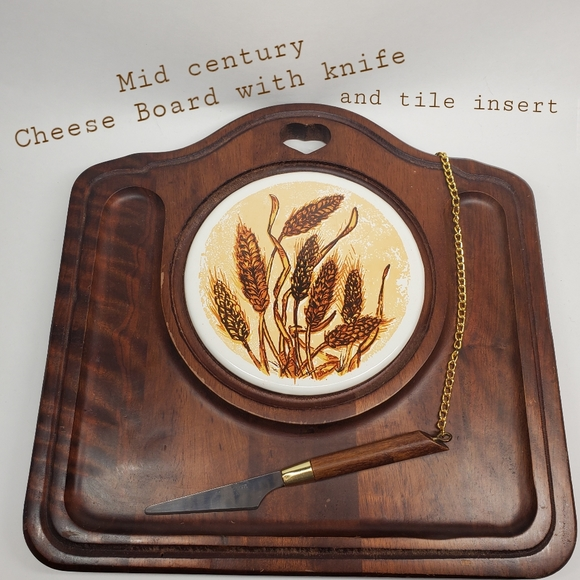 Walnut Cheese Board with Stainless Steel Knife